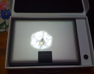 Caja MacBook Pro abierta