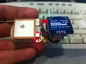 First handheld GPS prototype