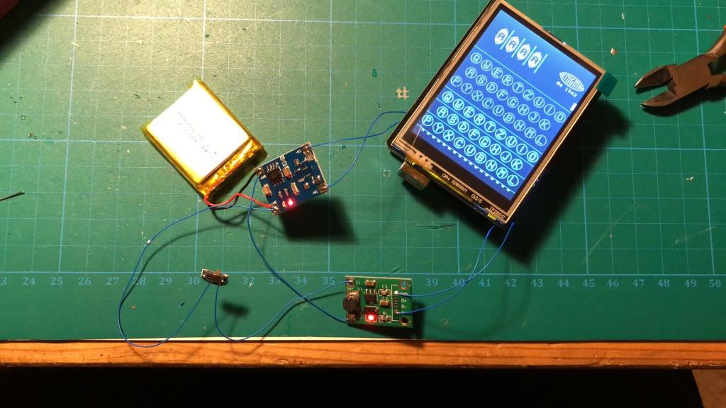 Arduino Enigma Machine with battery