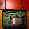 El interior del CT-535 con la PCMCIA wireless