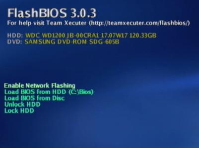 Pantalla de Flashbios 3.0.3 similar a la Bios de HyperX